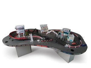 Taj Ma Garaj Slot Car Track and Display For Sale by Auction