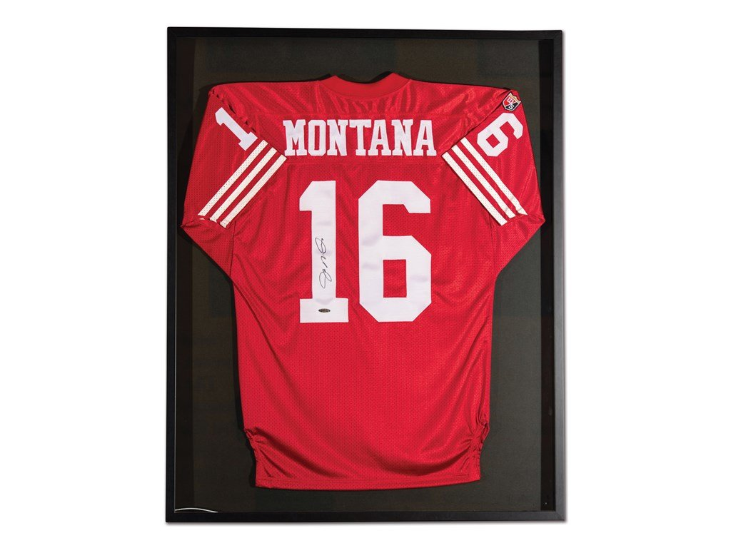 Joe Montana San Francisco 49ers Autographed Jersey For Sale by Auction (picture 1 of 2)