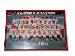 1976 World Champions Cincinnati Reds Autographed Framed Phot For Sale by Auction