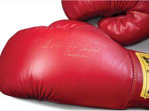 "Flix ""Tito"" Trinidad Autographed Boxing Gloves For Sale by Auction"