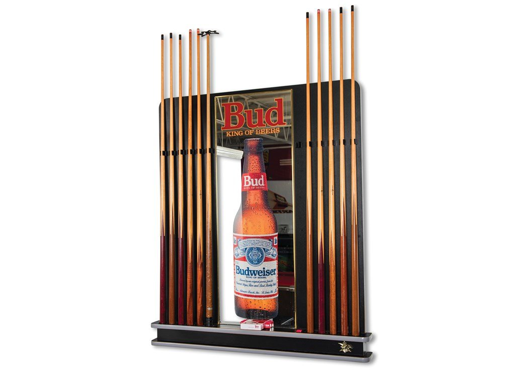 Budweiser Pool Cue Rack with Cues For Sale by Auction (picture 1 of 1)