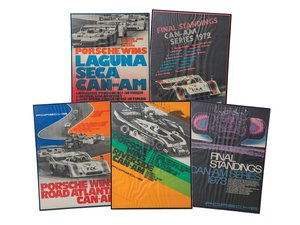 Porsche Can-Am Racing Series Framed Posters For Sale by Auction