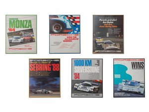 Porsche 956 and 962 Racing Framed Posters For Sale by Auction