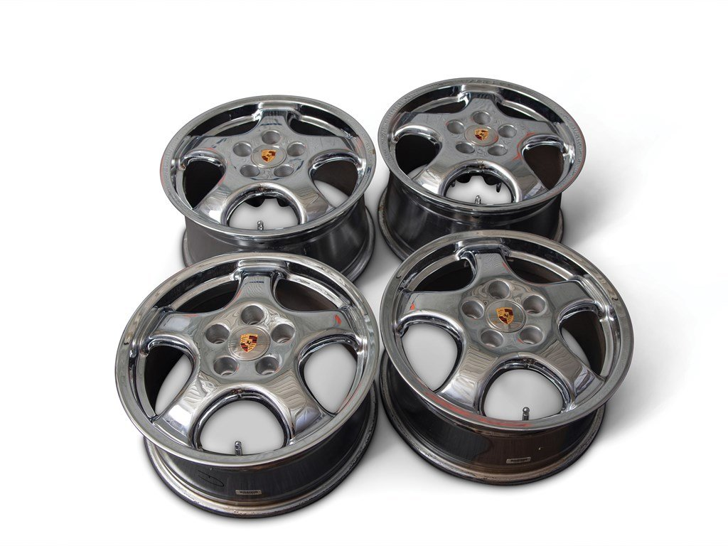 Set of Four Porsche Cup 1 Chrome Wheels For Sale by Auction (picture 1 of 1)