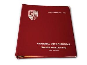 Porsche 911 Sales Bulletins, 1968 Models For Sale by Auction