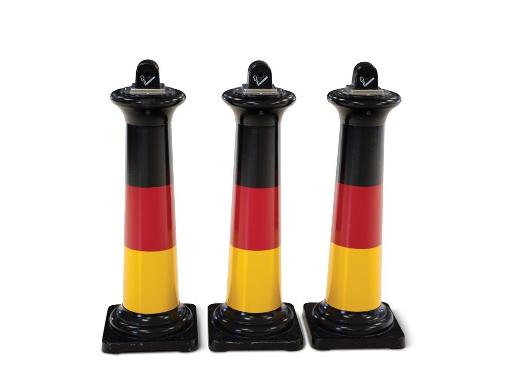 German Flag Livery Standing Ashtrays For Sale by Auction (picture 1 of 1)