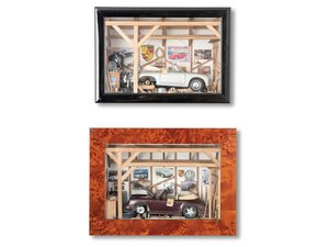 Pair of Porsche Dioramas For Sale by Auction