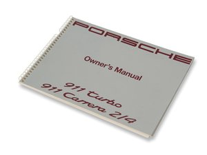 Porsche 911 Turbo and Porsche 911 Carrera 2.4 Owners Manual For Sale by Auction