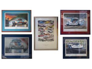 Porsche Racing Prints by Tom Bucher For Sale by Auction