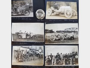 Photo Album of Early Auto and Motorcycle Racing, 1910 For Sale by Auction