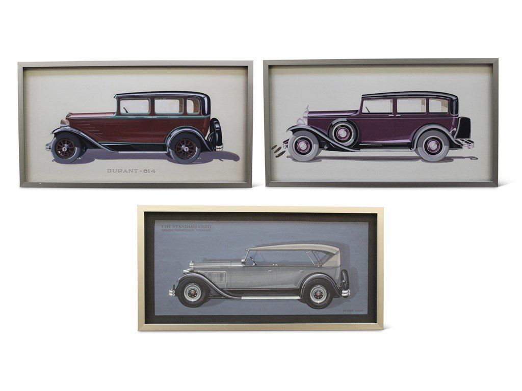 Three Fleetwood Styling Illustrations, 1929 For Sale by Auction (picture 1 of 3)