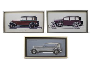 Three Fleetwood Styling Illustrations, 1929 For Sale by Auction