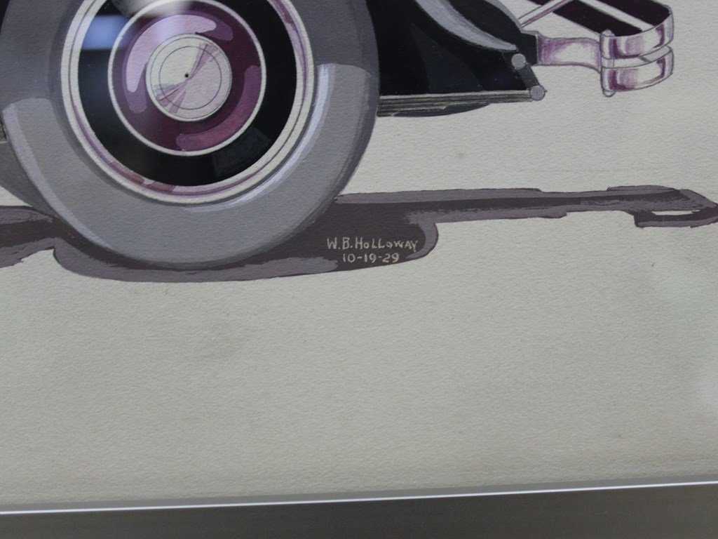 Three Fleetwood Styling Illustrations, 1929 For Sale by Auction (picture 2 of 3)