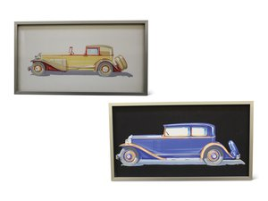 Pair of Fleetwood Styling Illustrations by H.J. Gottlieb, 19