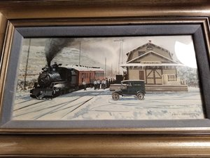 Maupin Depot, Oregon Trunk Railway by Ken Eberts For Sale by Auction