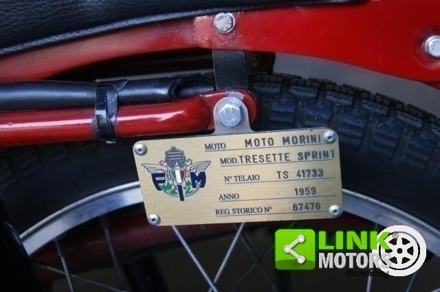 1959 MOTO MORINI TRESETTE 175 SPRINT  TARGA ORO For Sale (picture 5 of 6)