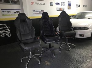 McLaren 570s Seats converted garage/office chairs For Sale