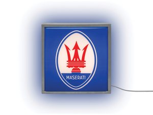 Maserati Illuminated Sign For Sale by Auction