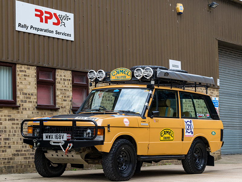 1979 Camel Range Rover Classic Long Distance Rally Car For Sale (picture 1 of 6)