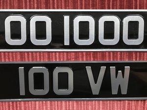 1964 Registration plates for sale. For Sale