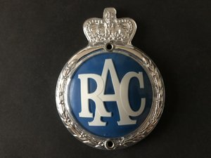 Picture of 1960 RAC badge. New old stock. For Sale
