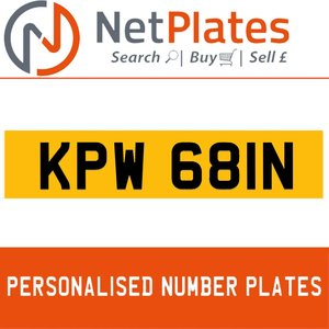 1992 KPW 681N PERSONALISED PRIVATE CHERISHED DVLA NUMBER PLATE For Sale