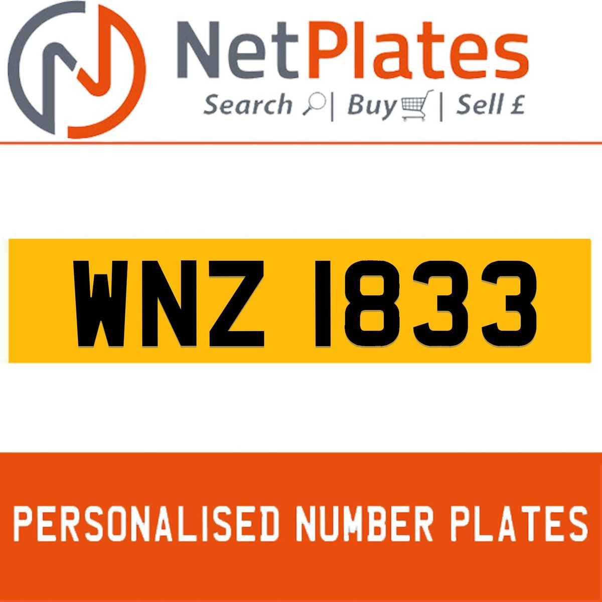 2000 WNZ 1833 PERSONALISED PRIVATE CHERISHED DVLA NUMBER PLATE For Sale (picture 1 of 5)