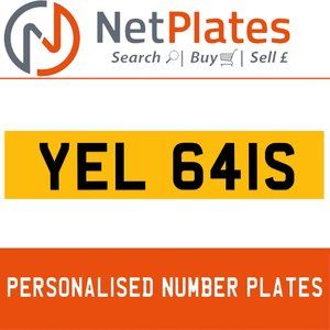 2001 YEL 641S PERSONALISED PRIVATE CHERISHED DVLA NUMBER PLATE For Sale