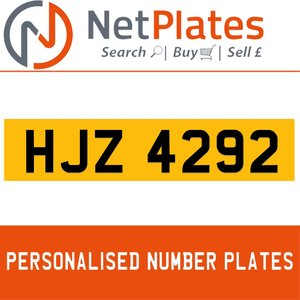 1990 HJZ 4292 PERSONALISED PRIVATE CHERISHED DVLA NUMBER PLATE For Sale