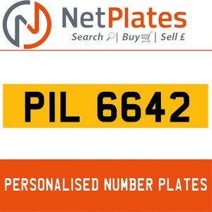 1996 PIL 6642 PERSONALISED PRIVATE CHERISHED DVLA NUMBER PLATE For Sale