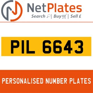 1996 PIL 6643 PERSONALISED PRIVATE CHERISHED DVLA NUMBER PLATE For Sale