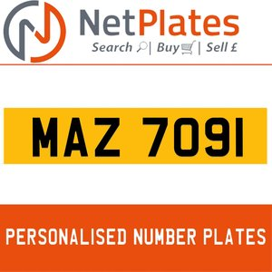 1994 MAZ 7091 PERSONALISED PRIVATE CHERISHED DVLA NUMBER PLATE For Sale