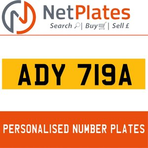 1983 ADY 719A PERSONALISED PRIVATE CHERISHED DVLA NUMBER PLATE For Sale