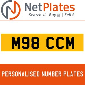 1994 M98 CCM PERSONALISED PRIVATE CHERISHED DVLA NUMBER PLATE For Sale