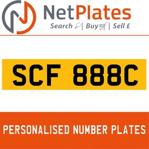 1998 SCF 888C PERSONALISED PRIVATE CHERISHED DVLA NUMBER PLATE For Sale