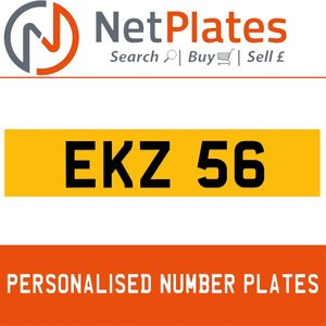 1987 EKZ 56 PERSONALISED PRIVATE CHERISHED DVLA NUMBER PLATE For Sale