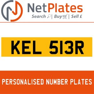 1992 KEL 513R PERSONALISED PRIVATE CHERISHED DVLA NUMBER PLATE For Sale