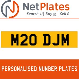 1994 M20 DJM PERSONALISED PRIVATE CHERISHED DVLA NUMBER PLATE For Sale