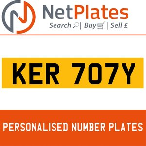 1992 KER 707Y PERSONALISED PRIVATE CHERISHED DVLA NUMBER PLATE For Sale