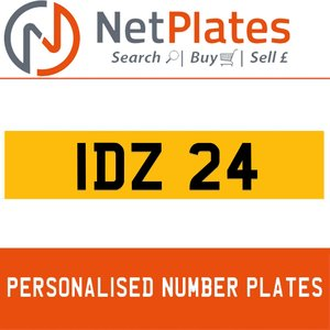1990 IDZ 24 PERSONALISED PRIVATE CHERISHED DVLA NUMBER PLATE For Sale