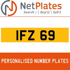 1990 IFZ 69 PERSONALISED PRIVATE CHERISHED DVLA NUMBER PLATE For Sale