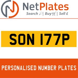 1998 SON 177P PERSONALISED PRIVATE CHERISHED DVLA NUMBER PLATE For Sale