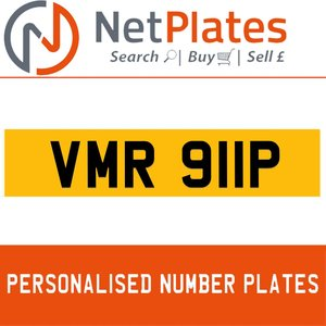 1999 VMR 911P PERSONALISED PRIVATE CHERISHED DVLA NUMBER PLATE For Sale