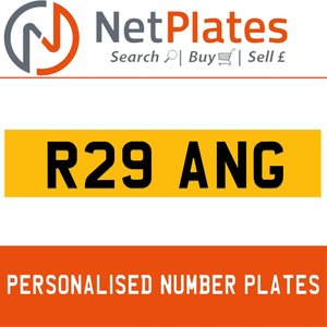 1997 R29 ANG PERSONALISED PRIVATE CHERISHED DVLA NUMBER PLATE For Sale