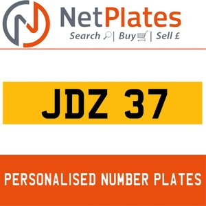 1991 JDZ 37 PERSONALISED PRIVATE CHERISHED DVLA NUMBER PLATE For Sale