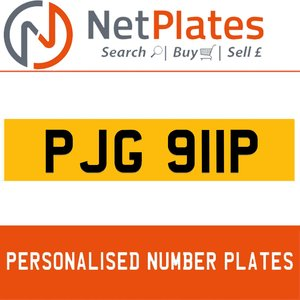 1996 PJG 911P PERSONALISED PRIVATE CHERISHED DVLA NUMBER PLATE For Sale