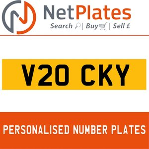 1999 V20 CKY PERSONALISED PRIVATE CHERISHED DVLA NUMBER PLATE For Sale