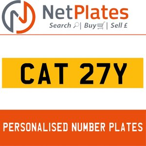 1985 CAT 27Y PERSONALISED PRIVATE CHERISHED DVLA NUMBER PLATE For Sale