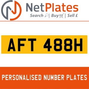 1983 AFT 488H PERSONALISED PRIVATE CHERISHED DVLA NUMBER PLATE For Sale