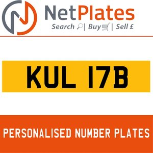 1984 KUL 17B PERSONALISED PRIVATE CHERISHED DVLA NUMBER PLATE For Sale